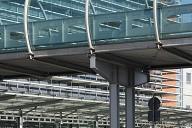 Verbindungsbrücke am Flughafen Dresden