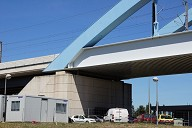 Bridge over the A7 Toll Gate at Bonpas