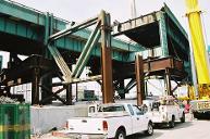 I-93 Charles River Bridge, Boston, Massachusetts.