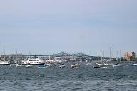 Mystic River Bridge & Tobin Memorial Bridge, Boston, Massachusetts.