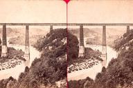 Grand Fey Viaduct.Stereoscopic view around 1900From the collection of the Stéréo-Club Français.