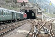Gotthard rail road: Area of the station Wassen, and middle Entschigtal-gallery