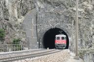 Gotthard rail road: Lower portal of the Wattinger spiraltunnel near Wassen