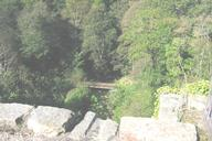 Causey ArchView from top deck showing stream