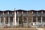 Mulhouse: Stade de l'Ill (vue arrière de la tribune Nord).