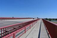 Bridge across the Elbe River at Vockerode, Saxony-Anhalt