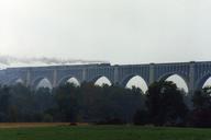 Tunkhannock Creek ViaductWith Canadian National 3254 and TrainNicholson, Pennsylvania USA
