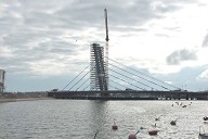 Crusell Cable stayed Bridge under construction