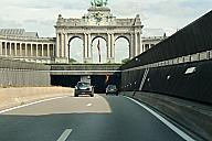 Cinquantenaire Tunnel western portals and arcades du Cinquantenaire