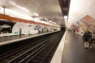 Jussieu Metro Station, line 7 platform