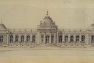 Drawing of the Palais des Beaux-Arts in LiègeWith kind permission of the Municipal archives of Liège