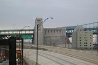 The Philadelphia anchorage of the Benjamin Franklin Bridge.