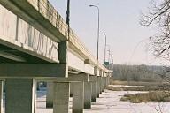 Views of the Cedar Avenue Bridge crossing the Minnesota River.