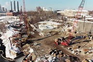 View of work on the North abuttment.