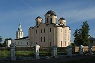 Saint Nicholas Cathedral at Yaroslav's Court 1113-23, Novgorod, Novgorod oblast, Northwestern Federal District, Russia.