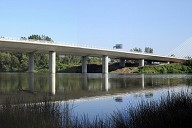 D47 Motorway cable-stayed bridge crossing the Odra river and the Antosovice lake