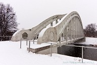 Karviná-Darkov Arch Bridge in the winter time