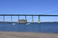 Mt. Hope Bridge, between Portsmouth and Bristol, Rhode Island, USA.
