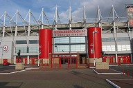 The main entrance of Riverside Stadium, Middlesbrough