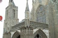 Cathédrale Saint-Samson, Dol-de-Bretagne.Porche Saint-Magloire et tour Sud.