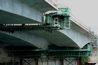 Francilienne - N104Doublement du pont sur la Seine à Corbeil-EssonnesEquipage mobile pour le clavage de la travée centrale - Détail