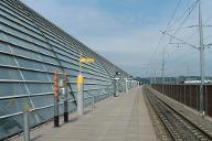 Gare Avignon-TGVExtérieur de la gare vu du quai direction Paris.