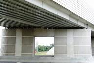 LGV Est-Européenne - Pont-rail de la RN34 à Pomponne (pont à poutrelles enrobées) - Pile