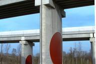 LGV Est-Européenne - Annet-sur-Marne - Lot 18 - Raccordement Sud - Pile au droit d'un joint de dilatation entre ouvrages