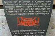 Collège de France, Paris.Information plaque