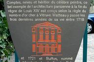 Hôtel Le Brun, ParisInformation plaque.