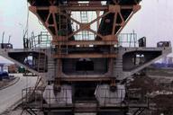 RER A - Viaduc du Ru de Maubuée - Poutre de lancement - Etançon reliant la poutre de lancement à la pile