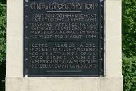 Samoreau - Pont de Valvins - Plaque à la mémoire du général Patton placée à côté du pont