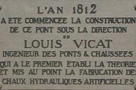 Pont de Louis Vicat à Souillac.Plaque commémorative.
