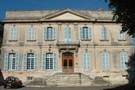 Viviers - Evêché (ancien hôtel de Roqueplane, ancien Hôtel de ville) - Façade sur cour