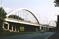 Bridge at the E19-A54 interchange at Petit-Roeulx, Nivelles.