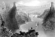 Clifton Suspension Bridge.Contemporary Engraving.