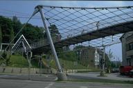 Löwentor Pedestrian Bridge and Net.