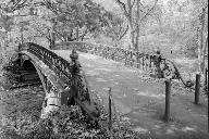 Central Park Bridges, Bridge No. 27Three-quarter view from deck level looking southwest(HAER, NY,31-NEYO,153D-2)