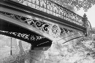 Central Park Bridges, Bridge No. 27View from bridlepath looking west showing detail of cast iron spandrel(HAER, NY,31-NEYO,153D-3)