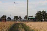Fuß des Hauptsendemast des Rheinsenders