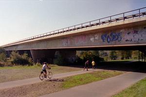 A 43 Bridge across Ruhr and Mühlengraben