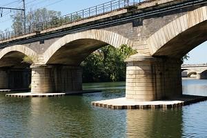 Ponts en arc surbaissé (segmentaire)
