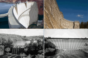 Dams by material