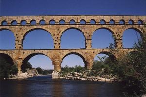 Three-story semi-circular arch bridges