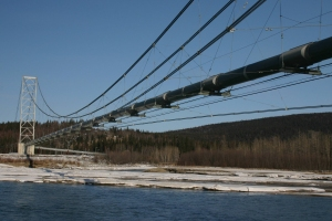 Oil pipeline bridges