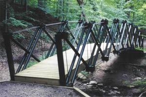 Howe type truss bridges