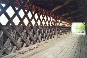 Town lattice truss bridges