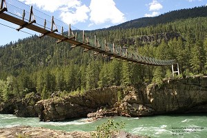 Simple (primitive) suspension bridges