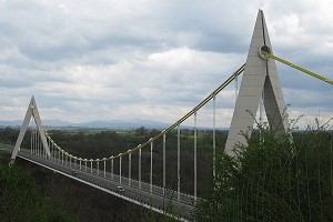 Mono-cable suspension bridges