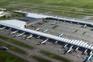 Erdbebenschutz für Flughafenterminal